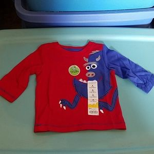 Jumping Bean's 6mth Long Sleeve Red Monster